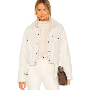 NWT LEVI'S Cozy Cocoon White Sherpa Jacket